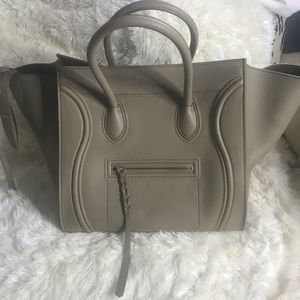 Authentic Celine Large Taupe Phantom Bag